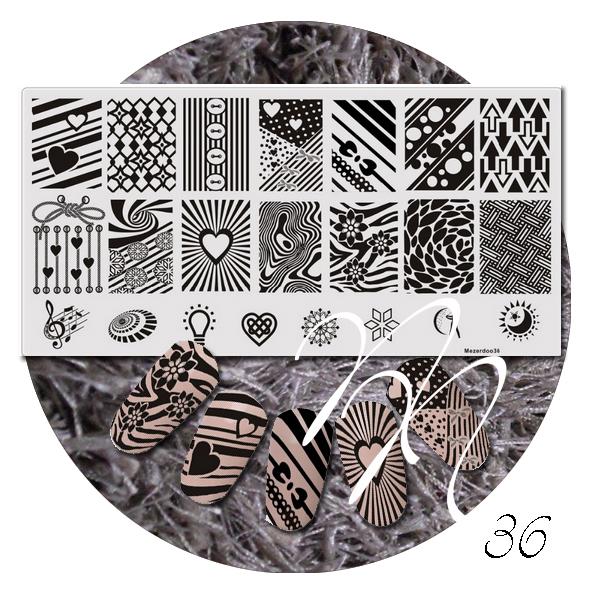 Stempelplaten Mezerdoo Noca Nails